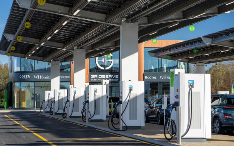 UK's First Electric Charging Forecourt Opens