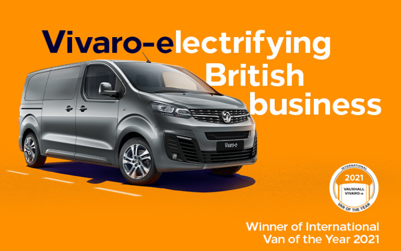 Vauxhall Vivaro-E Crowned International Van of the Year 2021
