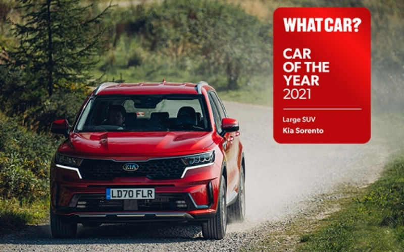 New Kia Sorento Crowned 'Large SUV Of The Year' At 2021 WhatCar? Awards