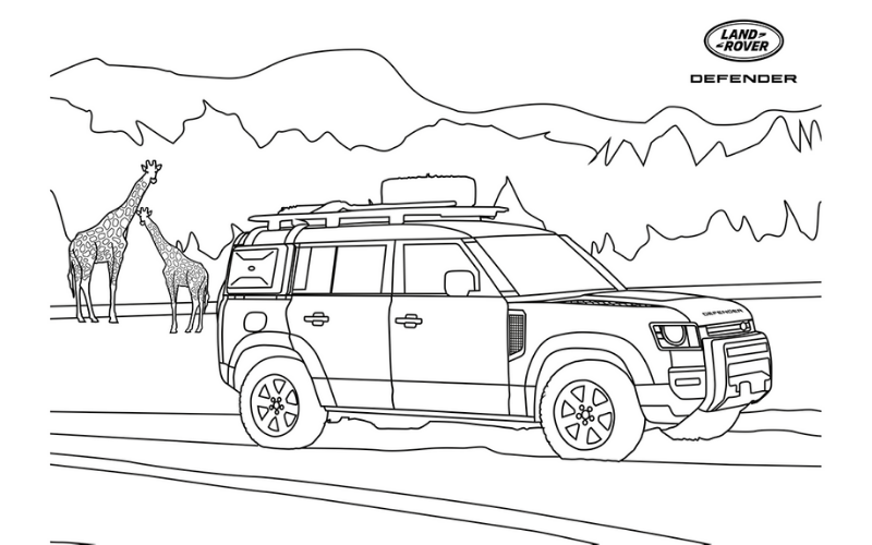 Lockdown Land Rover Defender Colouring In