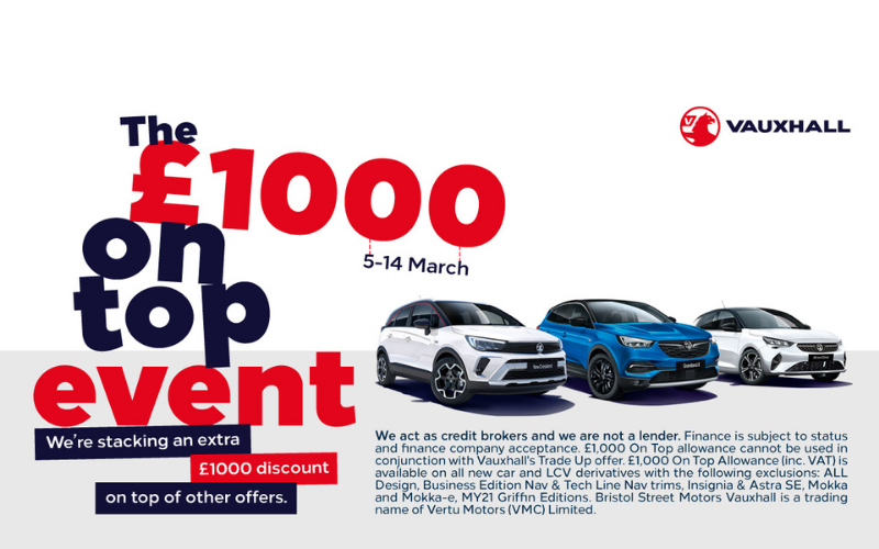 Vauxhall's £1000 On Top Event Is Now On