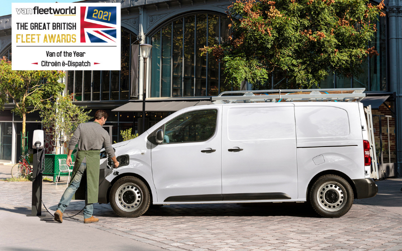 New Citroen E-Dispatch Crowned Van of the Year at 2021 Fleet Awards
