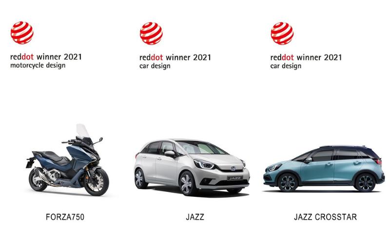 Honda Wins Three Design Awards At Red Dot Product Design 2021 Awards