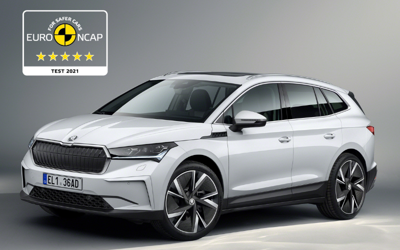 Skoda ENYAQ iV Awarded Euro NCAP 5-Star Safety Rating