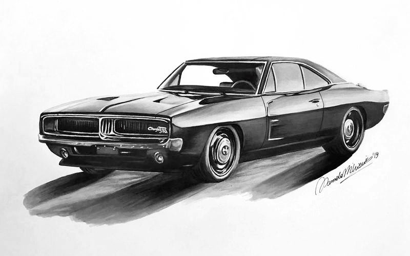 Win A Custom Drawn Poster Of Your Beloved Classic Car!