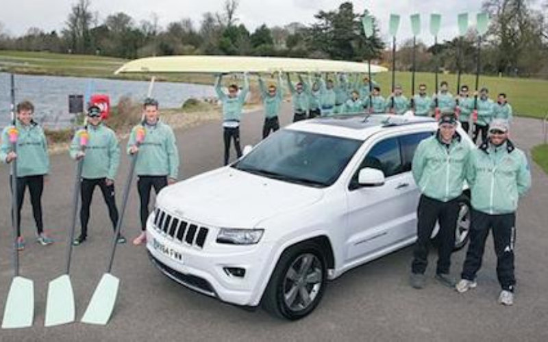 Jeep heads for the water and one of the world's most famous boat races