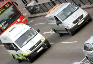 How to get out of an emergency vehicle's way safely