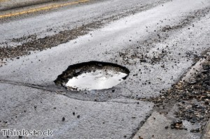 Protecting a car's tyres against the UK's pothole epidemic