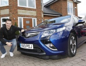Phil Jagielka now the proud owner of a Vauxhall Ampera