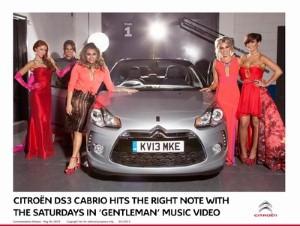 The Saturdays' new music video features Citroen DS3 Cabrio cameo