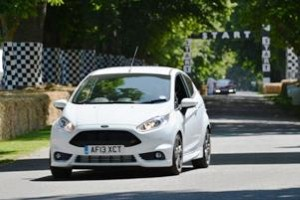 Attacking the Goodwood hillclimb course in the Ford Fiesta ST