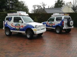 Suzuki Jimnys 4x4s to take six pensioners around the globe