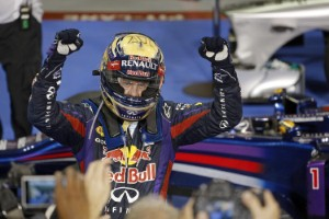 Sebastian Vettel caps F1 season off in style