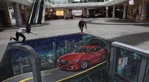 Mazda3 is eye-popping in London street art