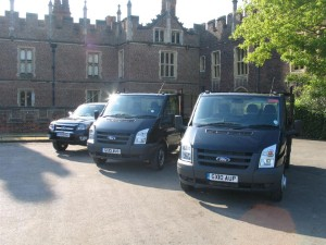 New Ford Transits head to Hampton Court Palace