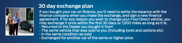 Ford Direct 30 day exchange plan
