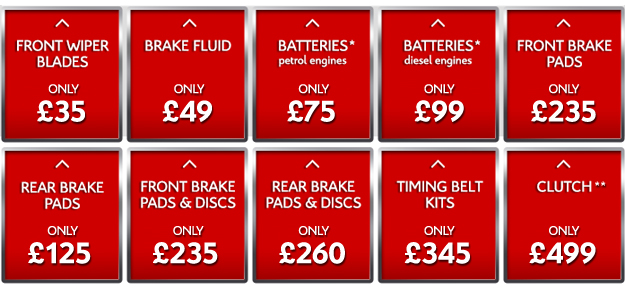 Fixed Price Repairs. All Models, All Ages
