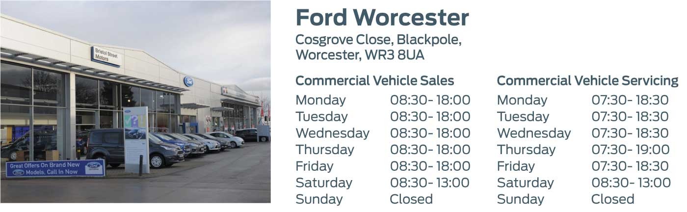Ford Transit Centre - Locations - Worcester