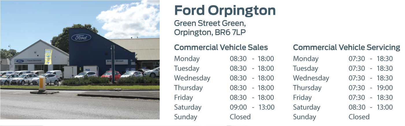 Ford Transit Centre - Locations - Orpington