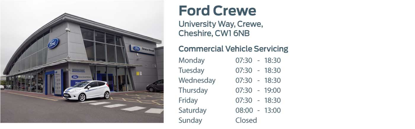 Ford Transit Centre - Locations - Crewe