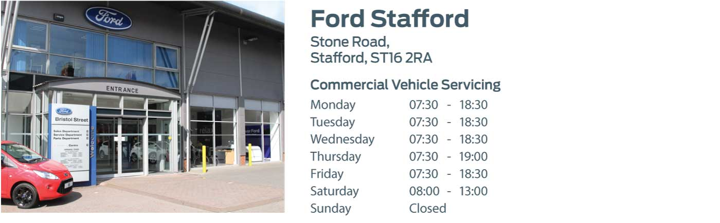 Ford Transit Centre - Locations - Stafford