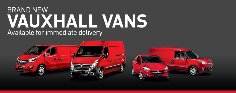 Vauxhall Vans - Available for immediate delivery