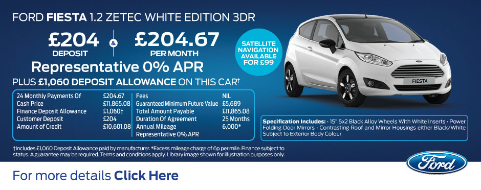 Ford Fiesta Zetec White Edition