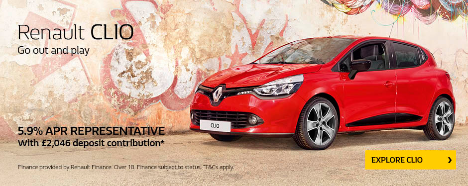 Renault Clio 5.9% APR and FDA
