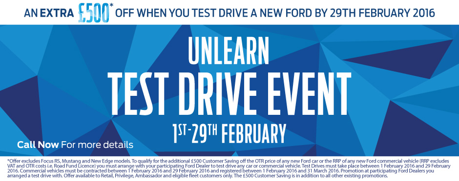 Ford Commercial Test Drive Event Banner