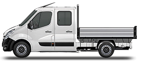 Vauxhall Movano Dropside Double Cab Small