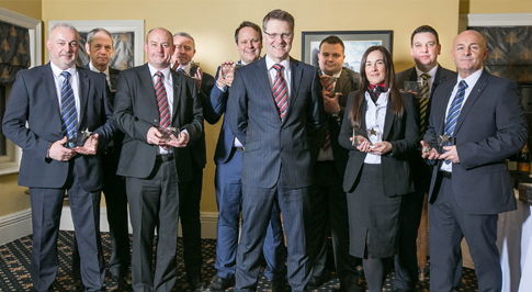 Vertu Motors honour managers at award ceremony