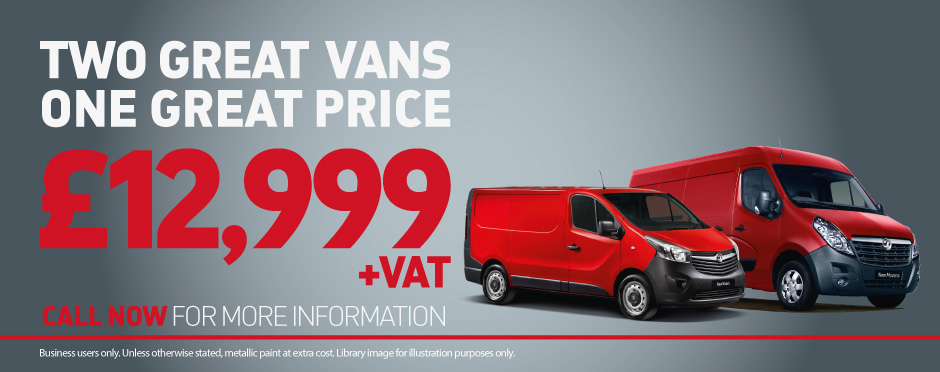 Vauxhall Two Vans One Great Price BB