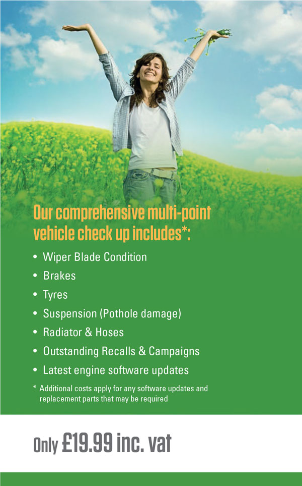 Our comprehensive multi-point vehicle check up
