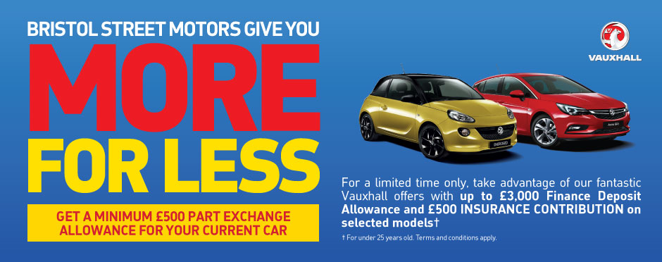 Vauxhall More for Less