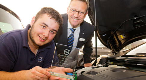 Volvo Derby colleague is Volvo's Apprentice of the Year