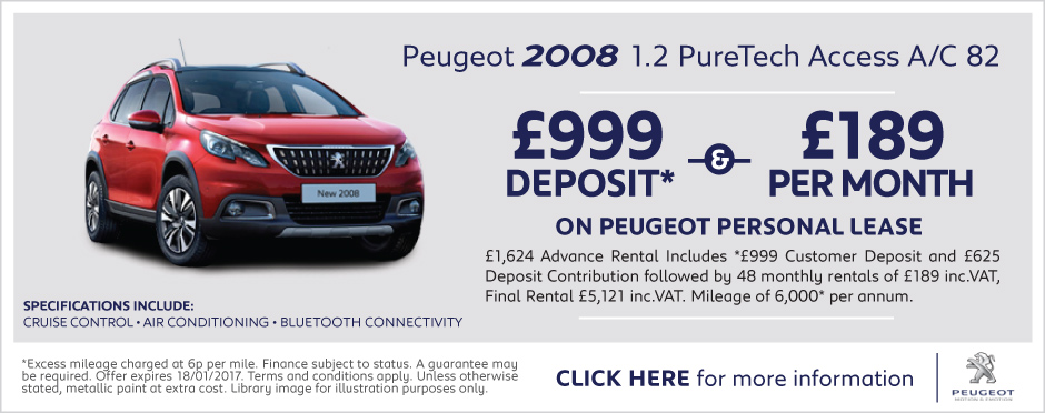 Peugeot 2008 Personal Lease