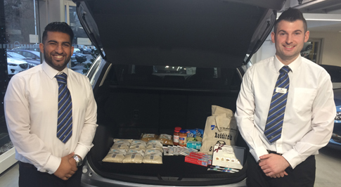Redditch Mazda joins local Christmas Foodbank Appeal