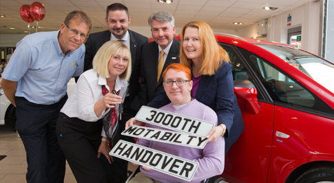 Motability milestone for Vauxhall Chesterfield
