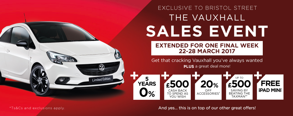 Vauxhall Sales Event