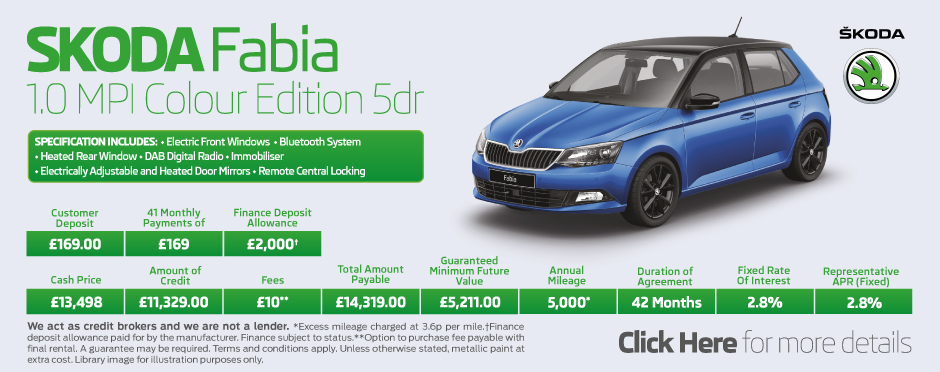 SKODA Fabia 1.0 Colour Edition 5dr