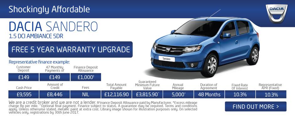 New Dacia Deals New Dacia Cars For Sale Bristol Street
