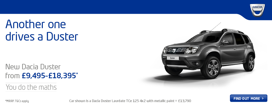 dacia duster deals new dacia duster for sale bristol street. Black Bedroom Furniture Sets. Home Design Ideas