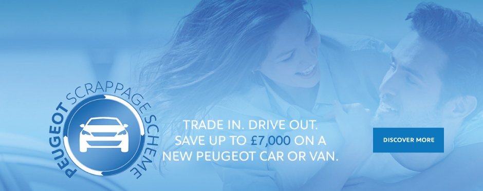 Peugeot Scrappage Banner