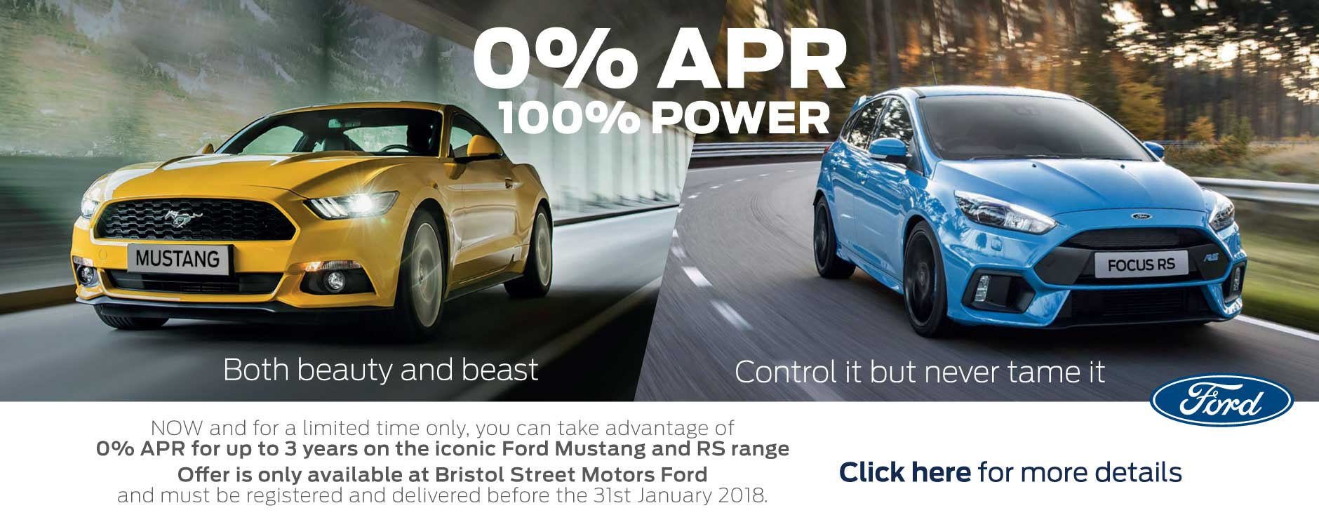Ford Mustang and RS 0% APR Event