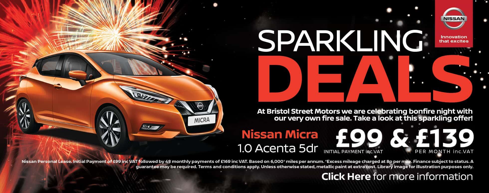 Nissan Bonfire Night Sale Deals | Bristol Street Motors