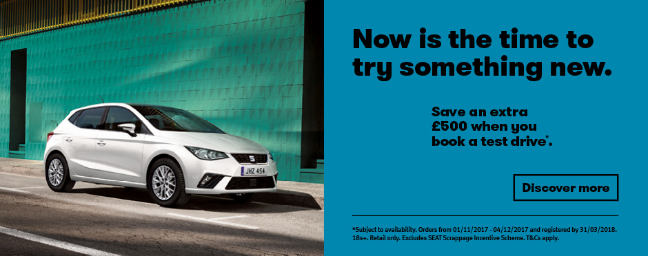 SEAT Save �500 Test Drive Offer