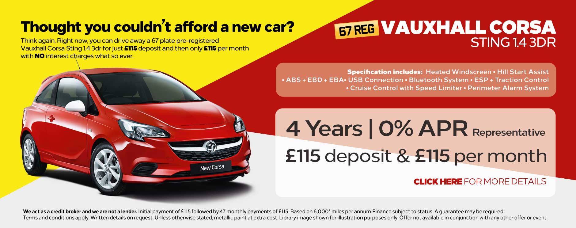 Vauxhall Corsa Sting Christmas Offer BB