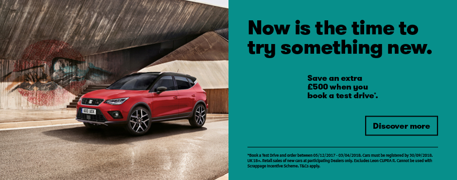 SEAT �500 Test Drive Banner