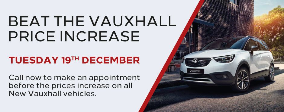Vauxhall Price Increase