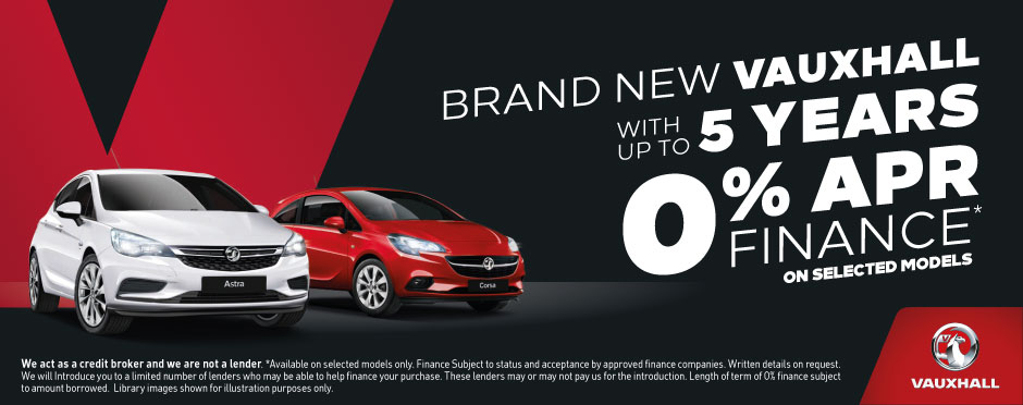 Vauxhall 5 Years 0% On New Car Hanuary